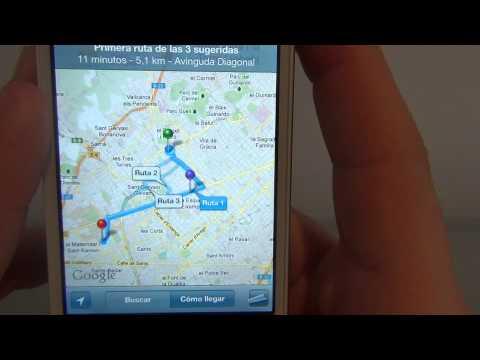 Cómo usar Google Maps en iPhone 4 y 4s