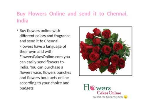 Buy Flowers, Cakes and Chocolates Online and Send it to Chennai, India