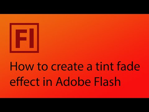 How to create a tint fade effect in Adobe Flash CS6