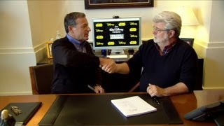 Download Disney Lucasfilm purchase, George Lucas and Bob Iger sign and discuss acquisition Video
