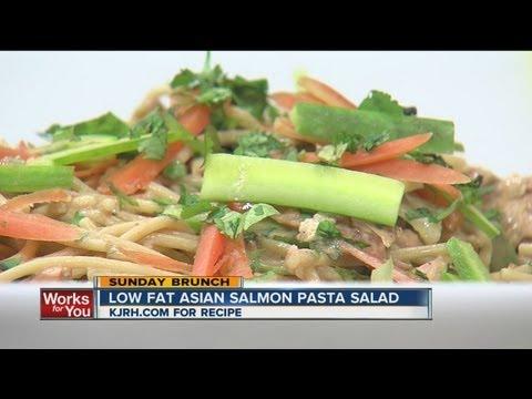 Sunday Brunch:  Julie Wheeler's low-fat Asian salmon pasta salad part II