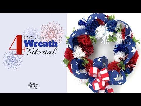 4th of July Wreath Tutorial Using Silk Flowers