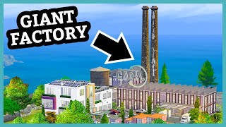 Download Someone built a HUGE factory in The Sims 4 (Your Gallery Builds) Video