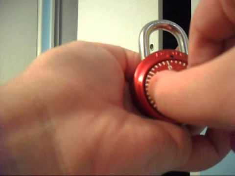 How to Set Your Number Combination Lock 03 21 27