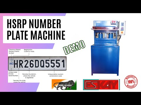 IND High security vehicle number plate making machine demo