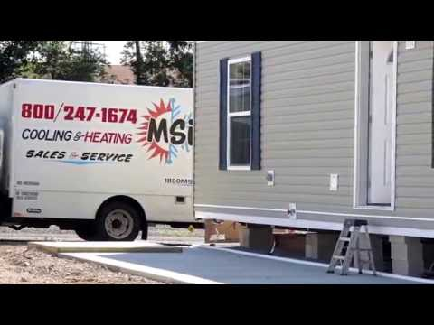 How many steps are there to complete a manufactured home? B-7 Airconditioning installed