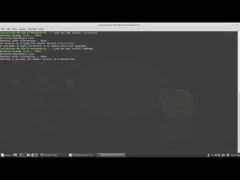 How to see HDD/CPU temperatures Linux Mint 18/Ubuntu 16.04 (Terminal)
