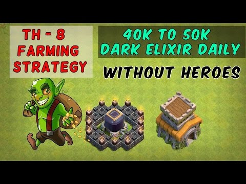 Clash of Clans- TH8 How to Get 40k Dark Elixir Daily without Heroes