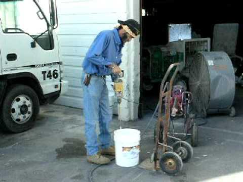 mixing Fireshell(R) waterbased coatings