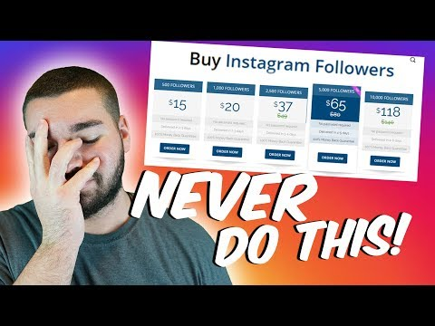 Buying Followers On Instagram. What happens? Should you? (Buying Instagram Followers)