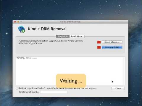 How to remove DRM from Kindle ebook?