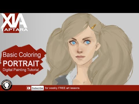 Basic portrait coloring tutorial