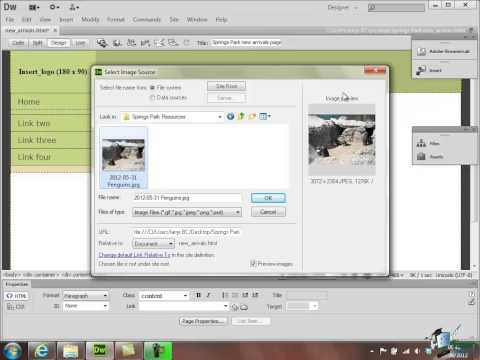 Dreamweaver CS6 Tutorial - Part 14 - Inserting & Importing Images - Creating a Website Course