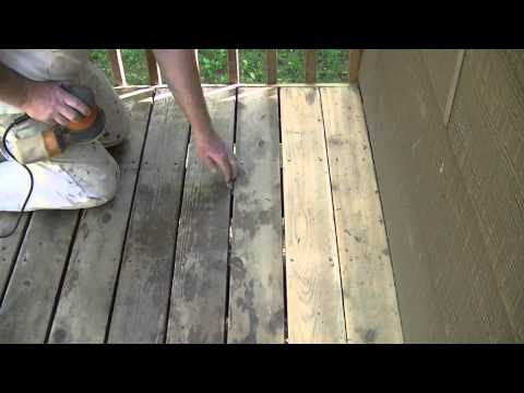How To Sand A Cedar Deck With A 5.5