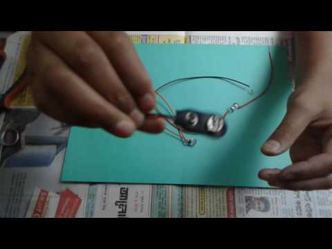 How to make electric circuit by using light,switch and battery
