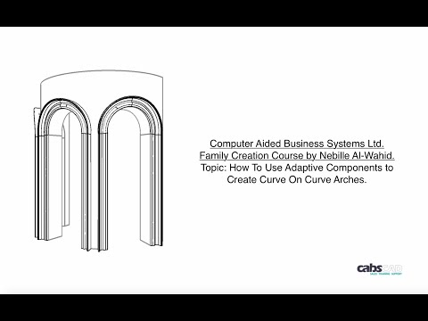 Revit Adaptive Component Arch With Exchangeable Profiles
