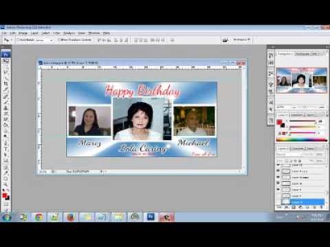 How To Make a 4x2ft.Tarpaulin Birthday Layout Using Adobe Photoshop (CS6, CS5, CS4, CS3) Part1