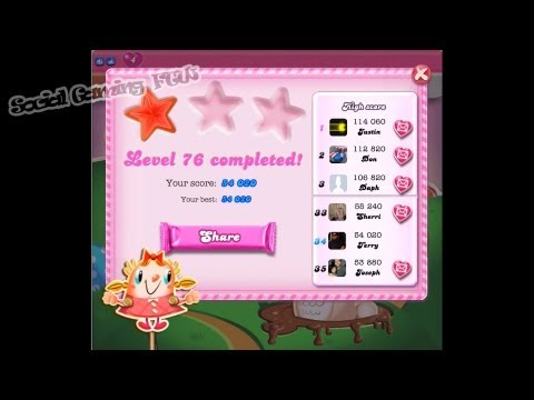 SocialGamingFTW - Candy Crush Saga - Episode 6 - Level 76 - 1 Star! - NO Boosters!