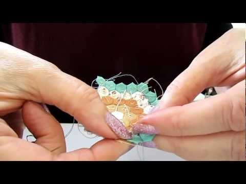 How to Hand Sew Miniature Hexagon Patchwork (5mm each side). English piecing method. Part 3 of 3.