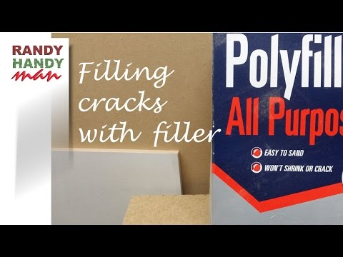 Repair wall crack with polyfiller. How to repair cracks in the wall.