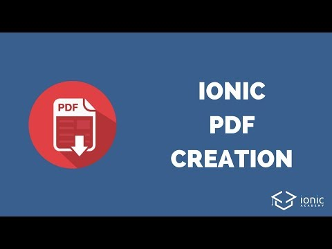 How to Create PDF Files with Ionic using PDFMake