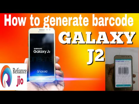 how to generate jio barcode on samsung galaxy j2 smartphone