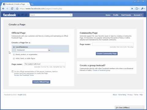 How To Create A Facebook Fan Page - OFFICIAL [UPDATED 2010]