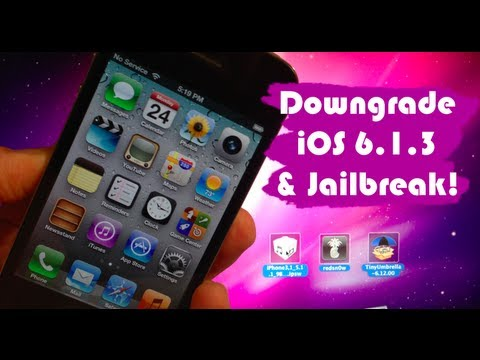 How to Downgrade iOS 6.1.3 on iPhone 4, 3GS, & iPod 4G & Get Untethered Jailbreak!