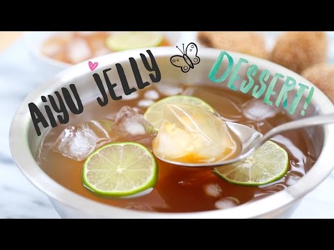 All Natural Aiyu Jelly  (愛玉) ♥  Healthy Summer Dessert Recipe
