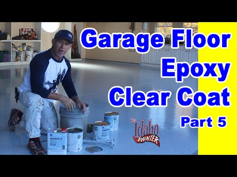 Epoxy Floor Clear Coat Application.  Garage Floor Epoxy Instructions.  DIY Concrete coatings.
