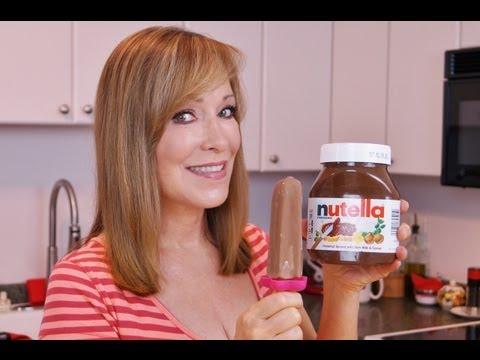 NUTELLA Popsicles Recipe! NUTELLA Fudgesicles! How To Make Ice Pops! Di Kometa-Dishin' With Di #92