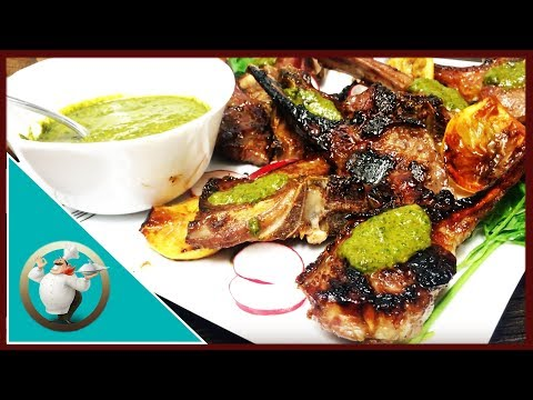 Grilled Lamb Chops With Honey & Mint Sauce | Sticky Lamb Chops Recipe |Easy Honey Glazed Lamb Chops
