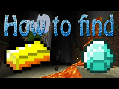 Minecraft PE: How to find Diamonds and Gold FAST!