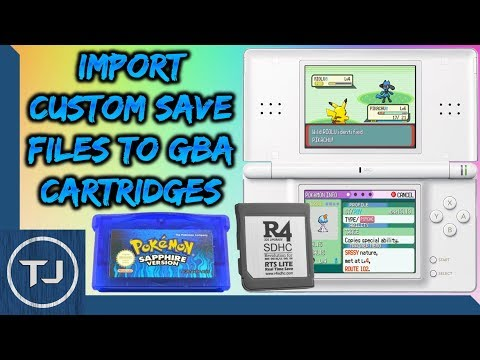Import Custom Save Files To GBA Cartridges! (Using R4 Card)