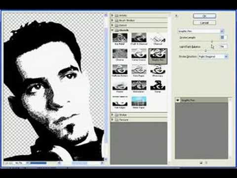 Photoshop CS3 : how to make sketch photo from real photo