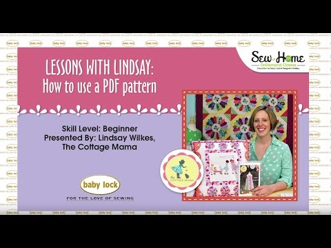 Lessons with Lindsay: How to use a PDF pattern