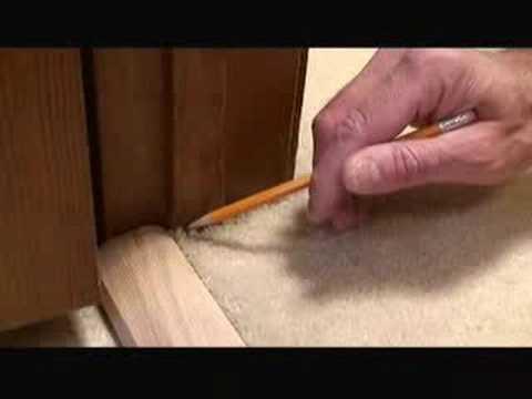 Installing Carpet Transition Trim Video