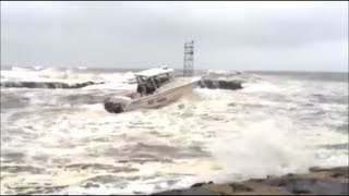 Hurricane Sandy - Crazy Boater