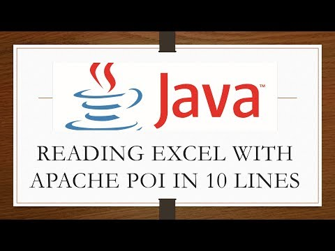 Reading Excel using Apache POI in Java | Just 10 Lines