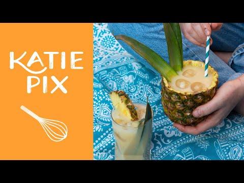 Tropical Non-Alcoholic Piña Colada Recipe | Katie Pix