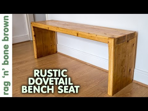Rustic Pine Dovetail Bench Seat