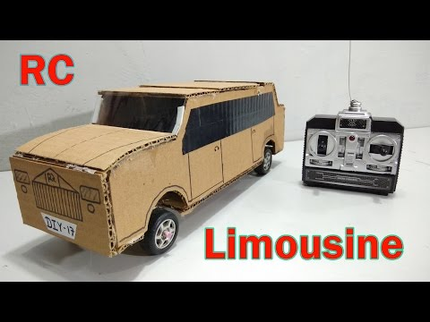 How to Make Remote Controlled limousine Car At Home