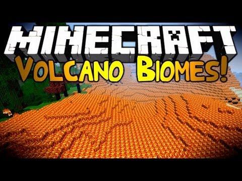 Minecraft: Mod Showcase   VOLCANO BIOME!