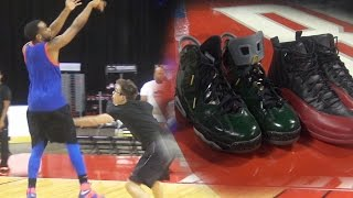 1 Vs 1! Jordan Flu Games Vs Jordan 6 Retro Champagne Shoes WAGER! On A NBA COURT!