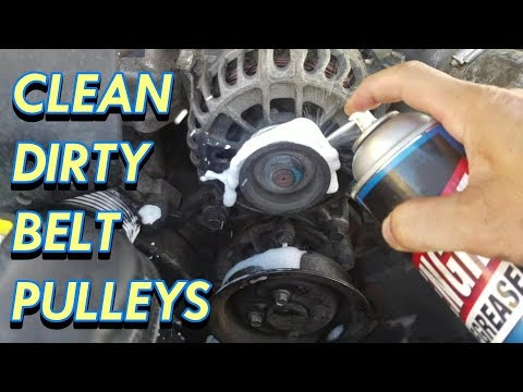 Serpentine Belt Squeal Fix - Engine Degreaser Cleaning Pulleys