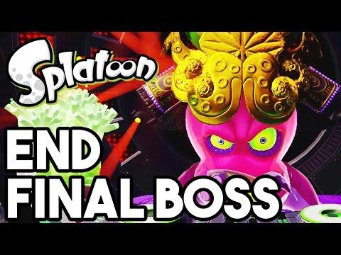 Splatoon Ending and Final Boss - Walkthrough Gameplay Part 8 - World 5 SP (60FPS Wii U 1080p)