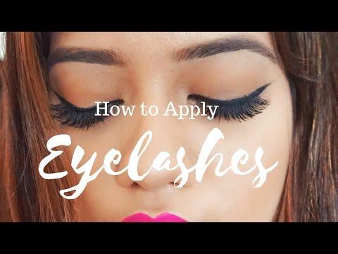 How To Apply Eyelashes | Debasree Banerjee