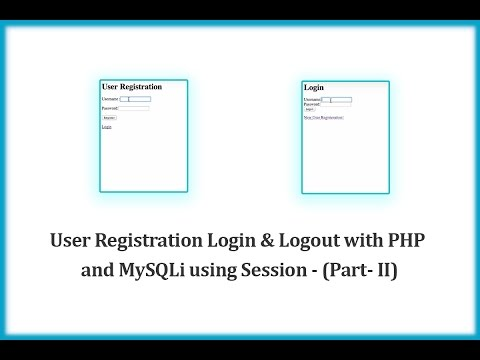 User Registration Login & Logout with PHP and MySQLi using Session - (Part- II)