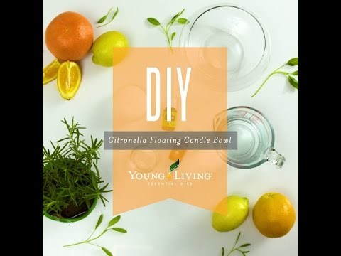 DIY Citronella Essential Oil Floating Candle Jar