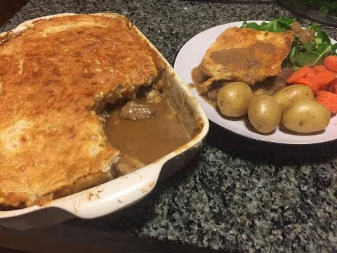 Suet Pastry Steak and Ale Pie with Jam Roly Poly!